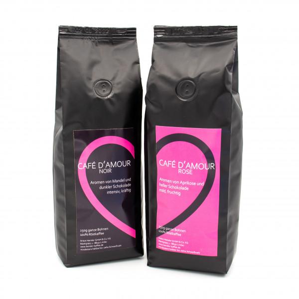 Geschenkpackung CAFÉ D'AMOUR / Kaffeegeschenk / Kaffeebohnen