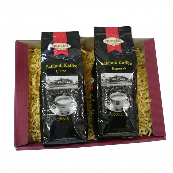 Geschenkset 3: Schümli Kaffees ganze Bohnen